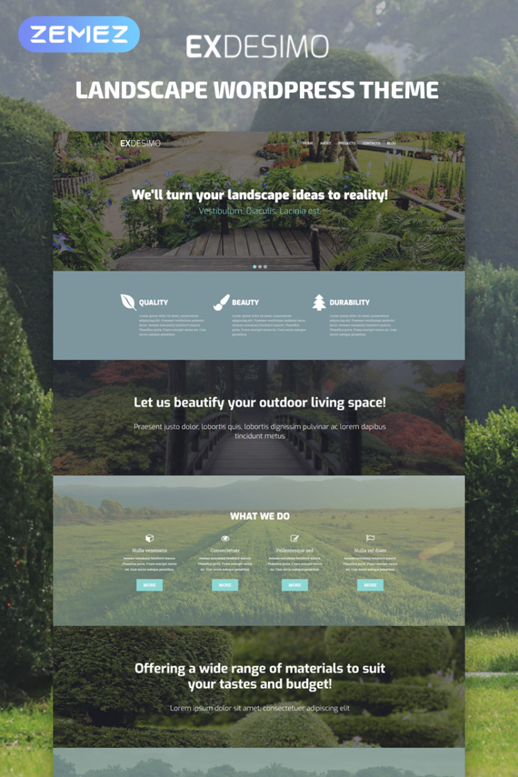 Exdesimo Landscape Multipurpose Modern Elementor WordPress Themes
