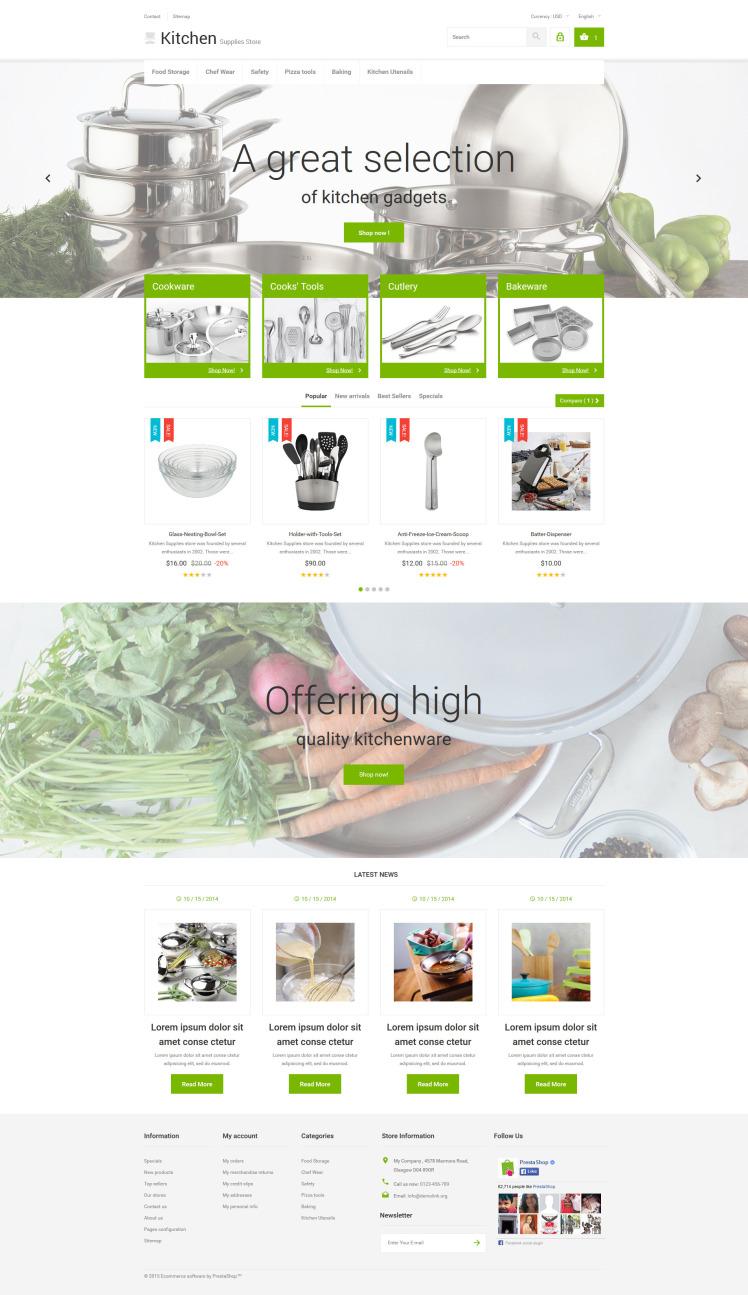 Kitchen Supplies Store PrestaShop Themes