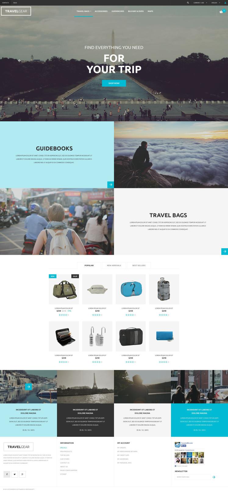 Travel Gear PrestaShop Themes
