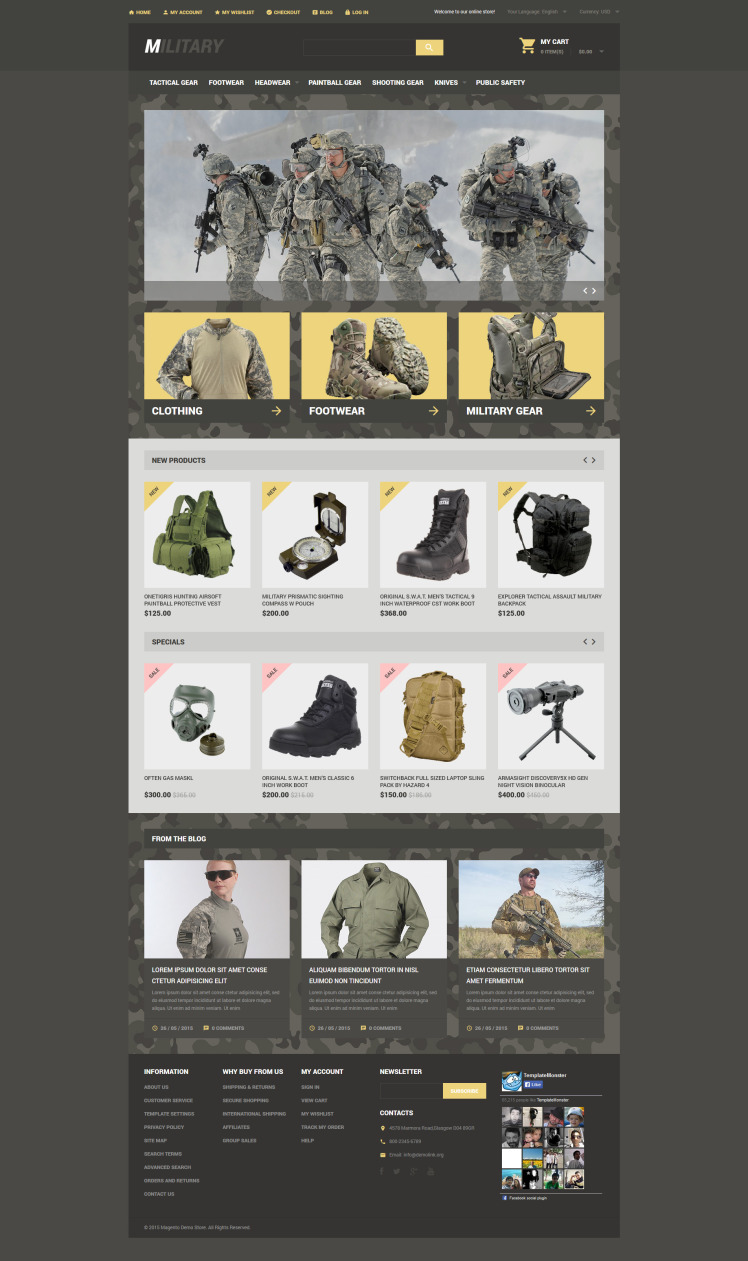 Military Store Magento Themes