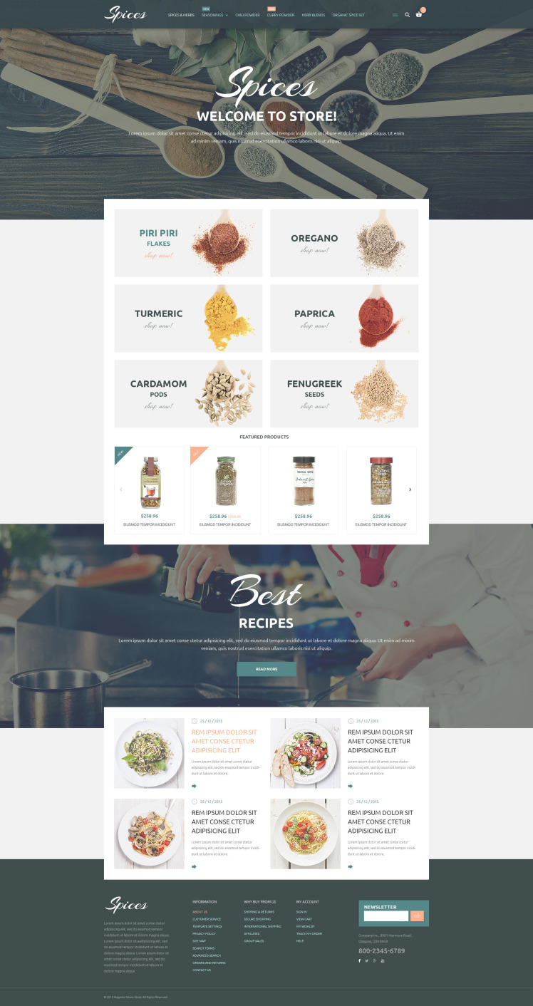 Culinary Spices Magento Themes