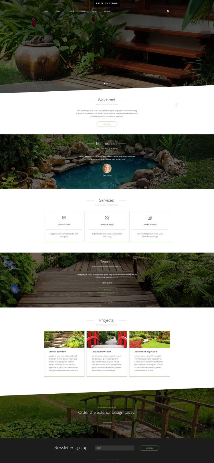 Exterior Design Joomla Templates