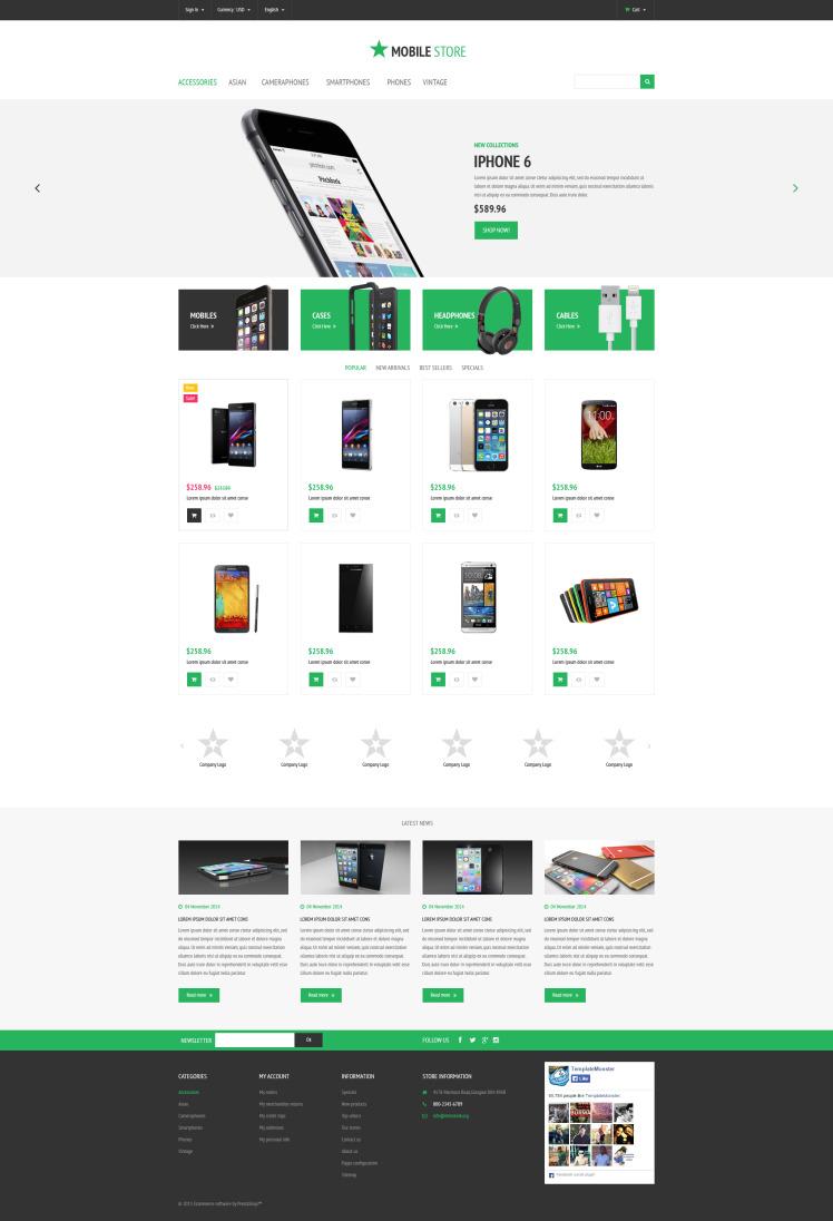 Mobile Store PrestaShop Themes