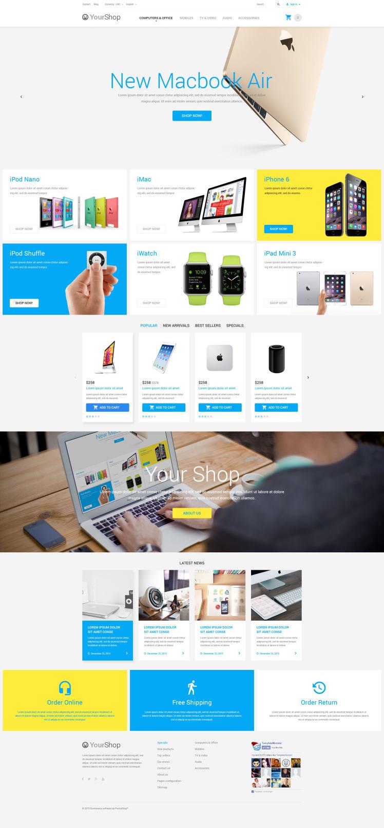 Electronics Store PrestaShop Themes