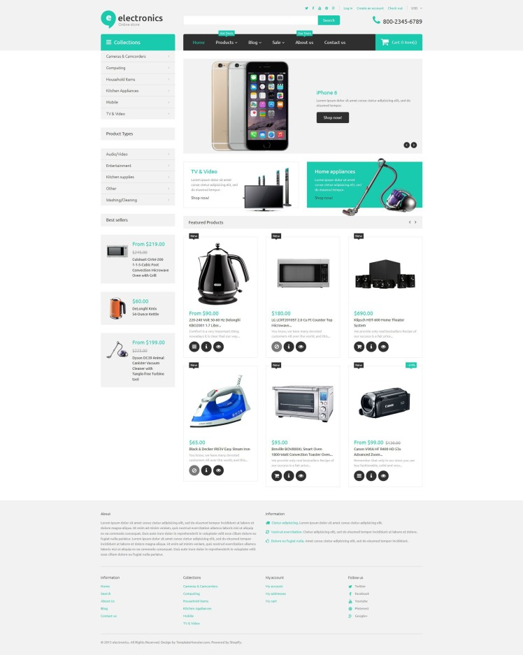 Electronics Retailer Shopify Themes
