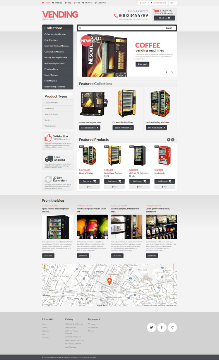 Healthy Vending Machines Shopify Themes
