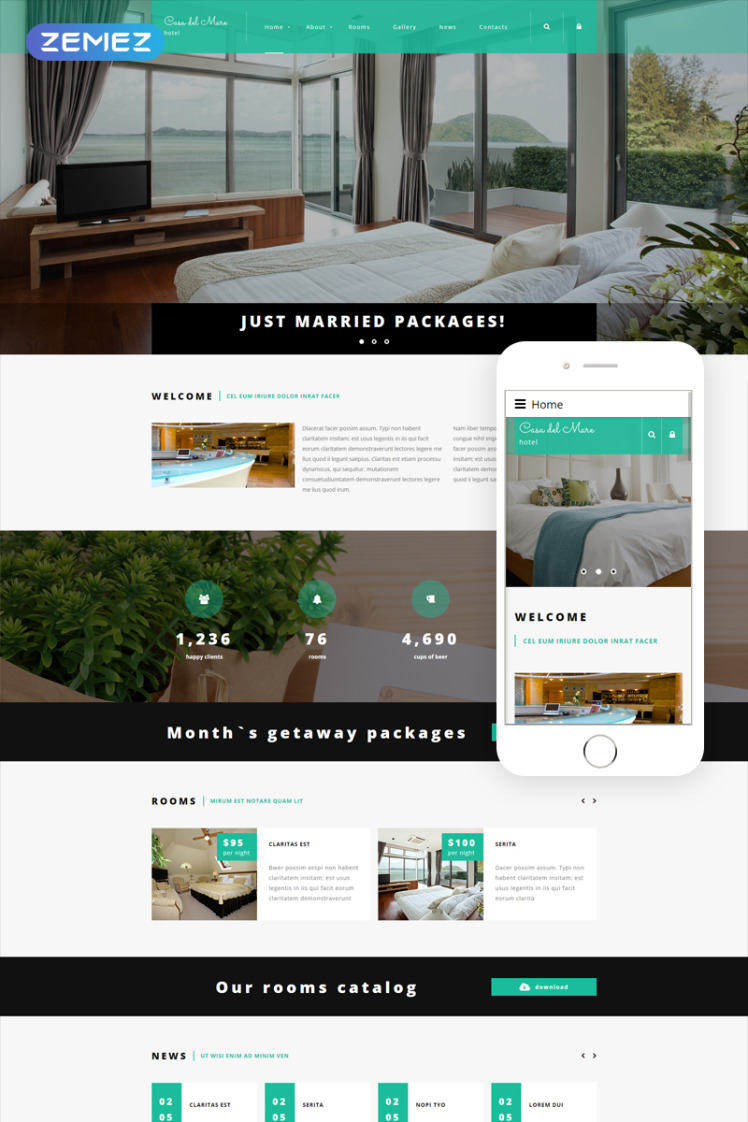 Hotel Suite Joomla Templates