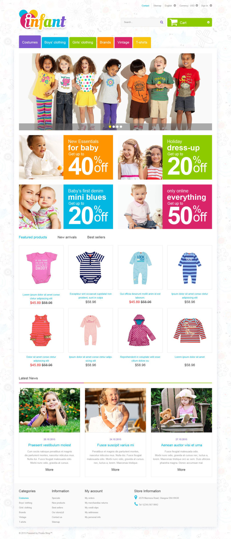 Infant PrestaShop Themes