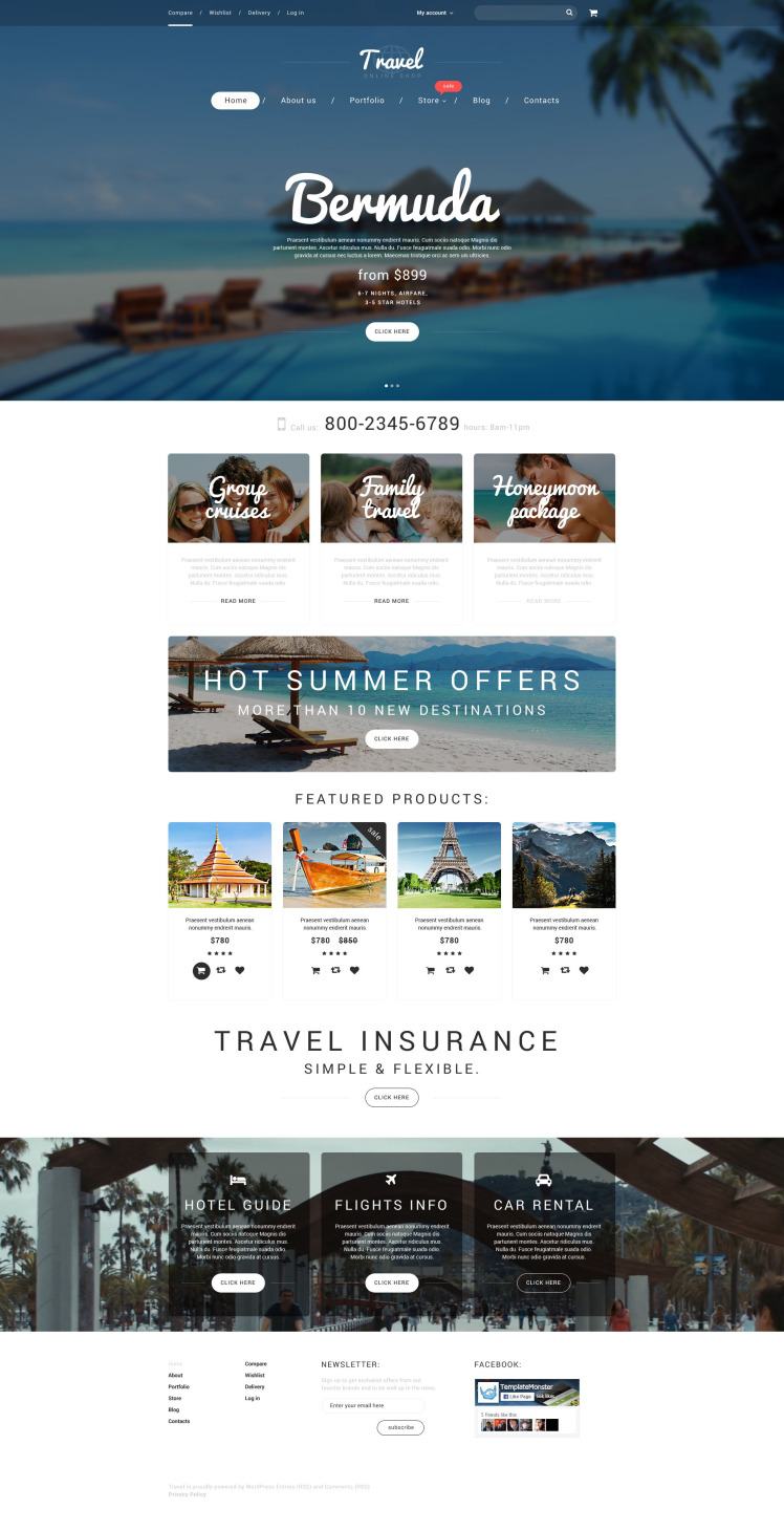 Vacation Agency WooCommerce Themes