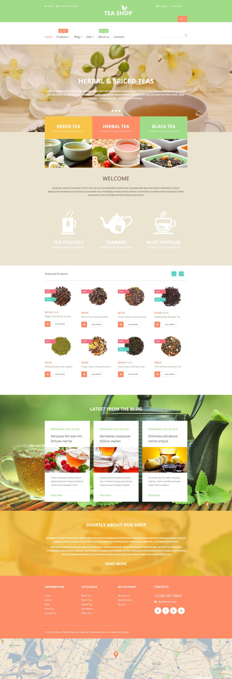 Tea Shop Shopify Themes