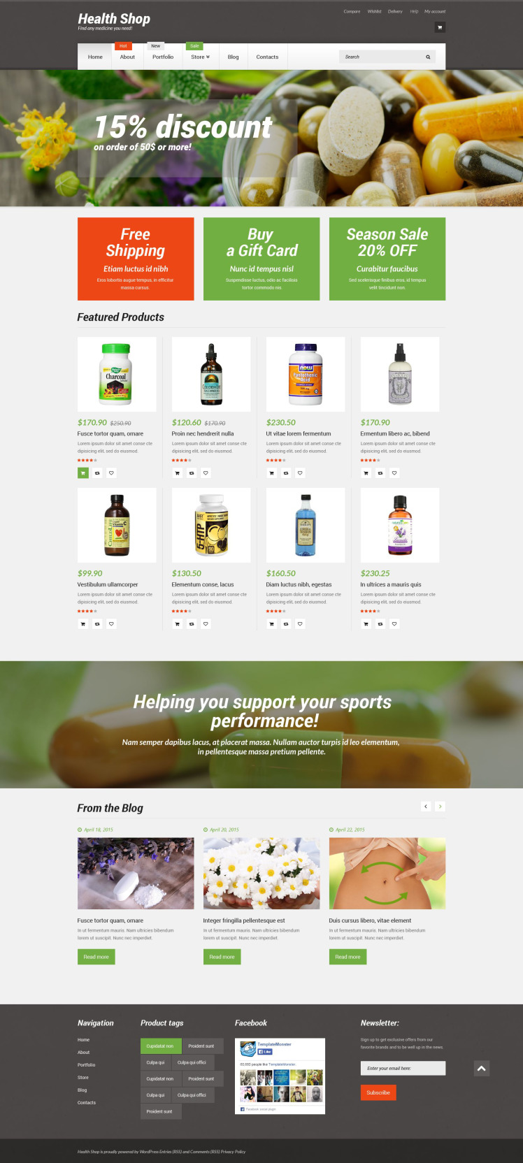 Health Shop WooCommerce Themes