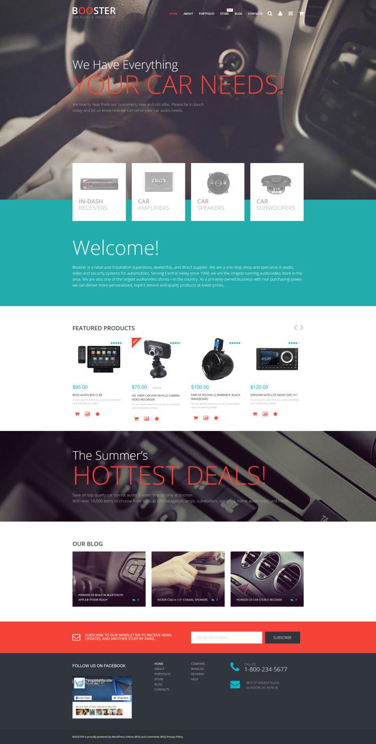 Car Audio Video WooCommerce Themes