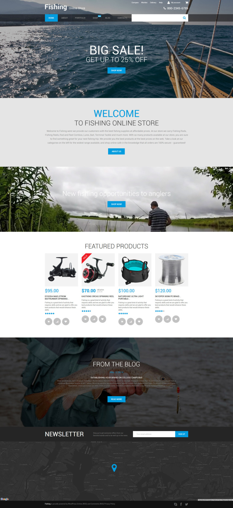 Fishing Online Store WooCommerce Themes