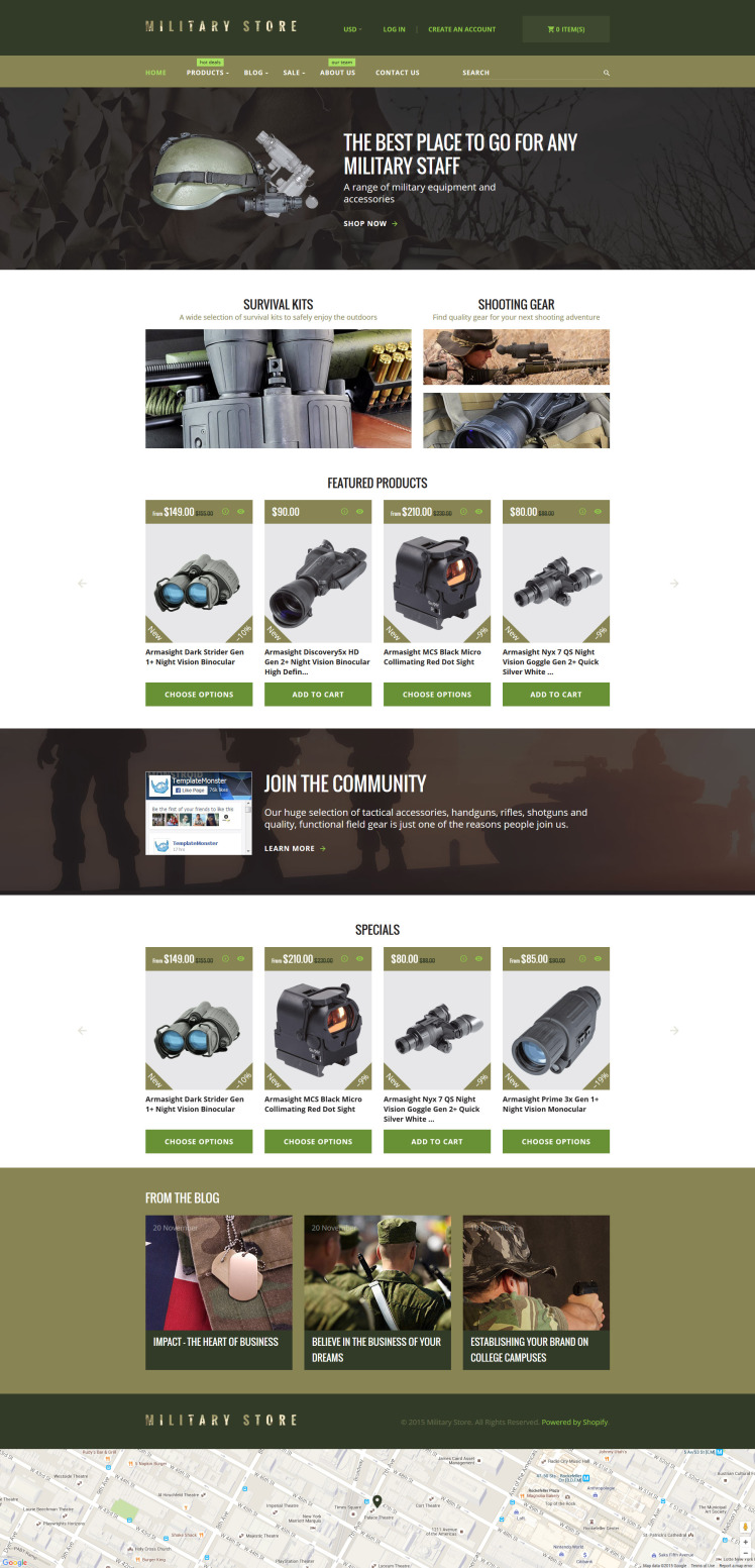 Military Shopify Themes