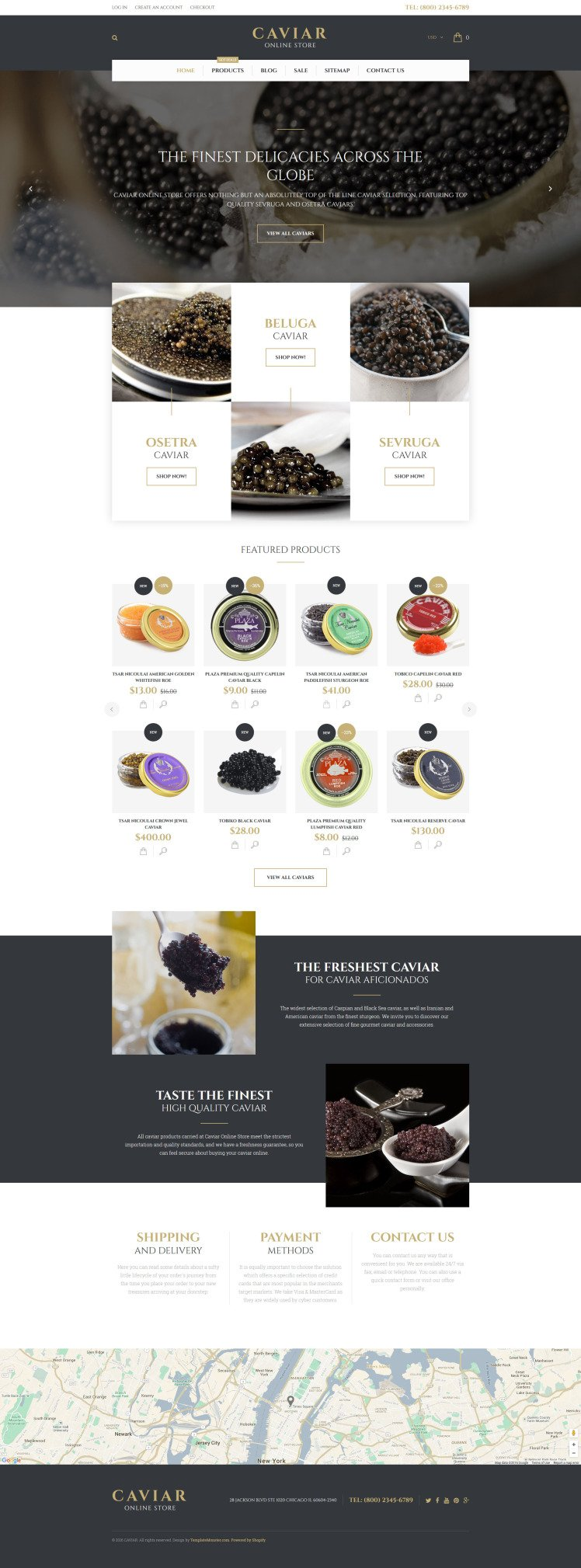 Caviar Shopify Themes