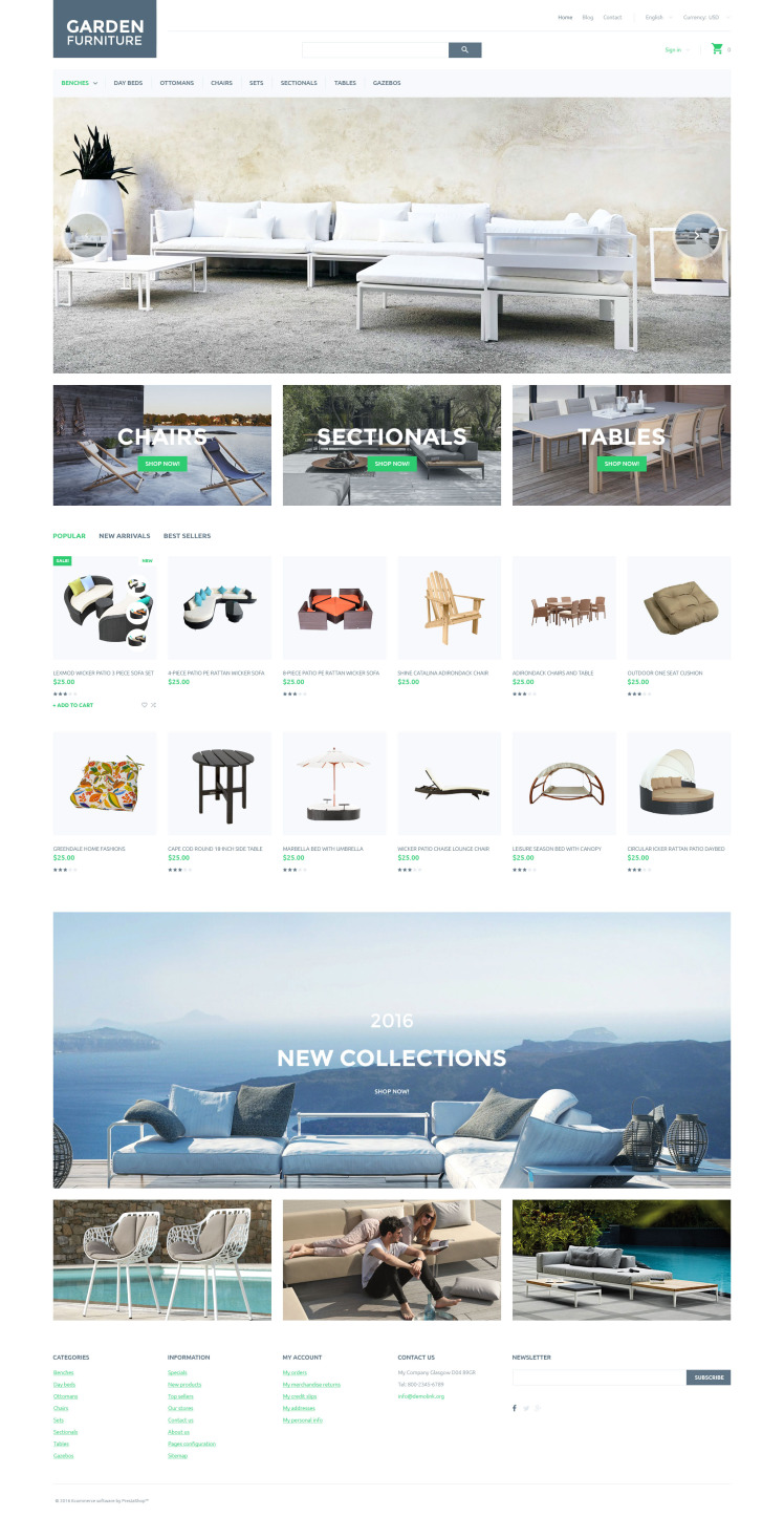 Garden Furniture PrestaShop Themes