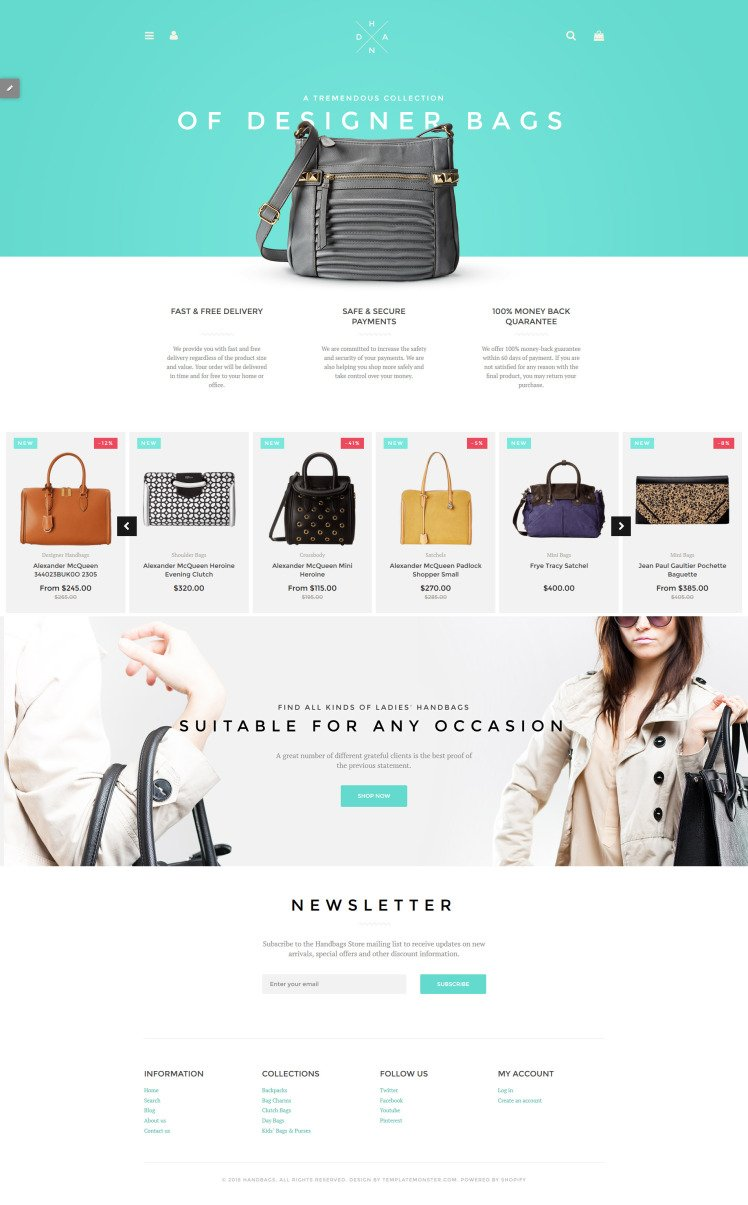 Handbag Boutique Shopify Themes