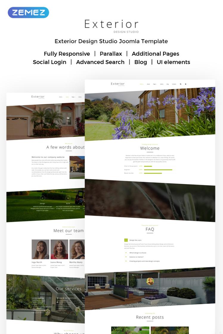 Exterior Design Studio Joomla Templates