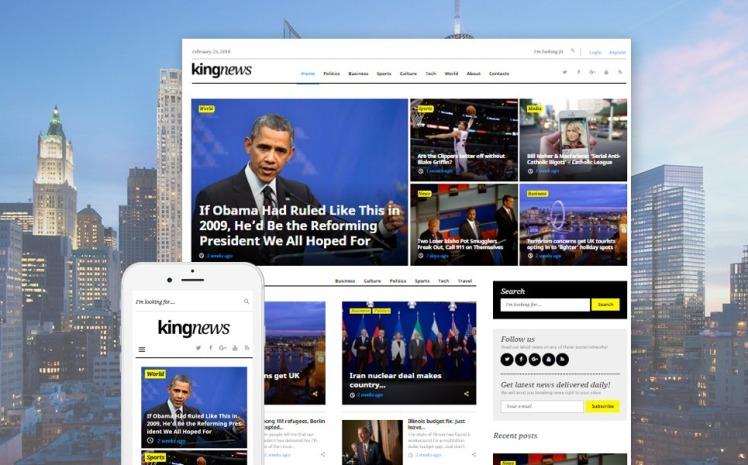 KingNews Magazine News Portal Blog WordPress Themes