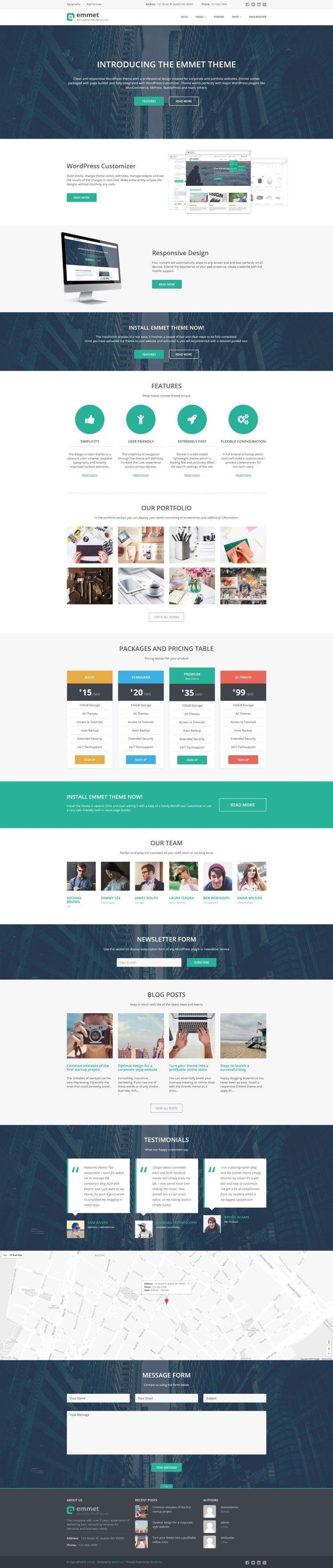 Emmet WordPress Themes