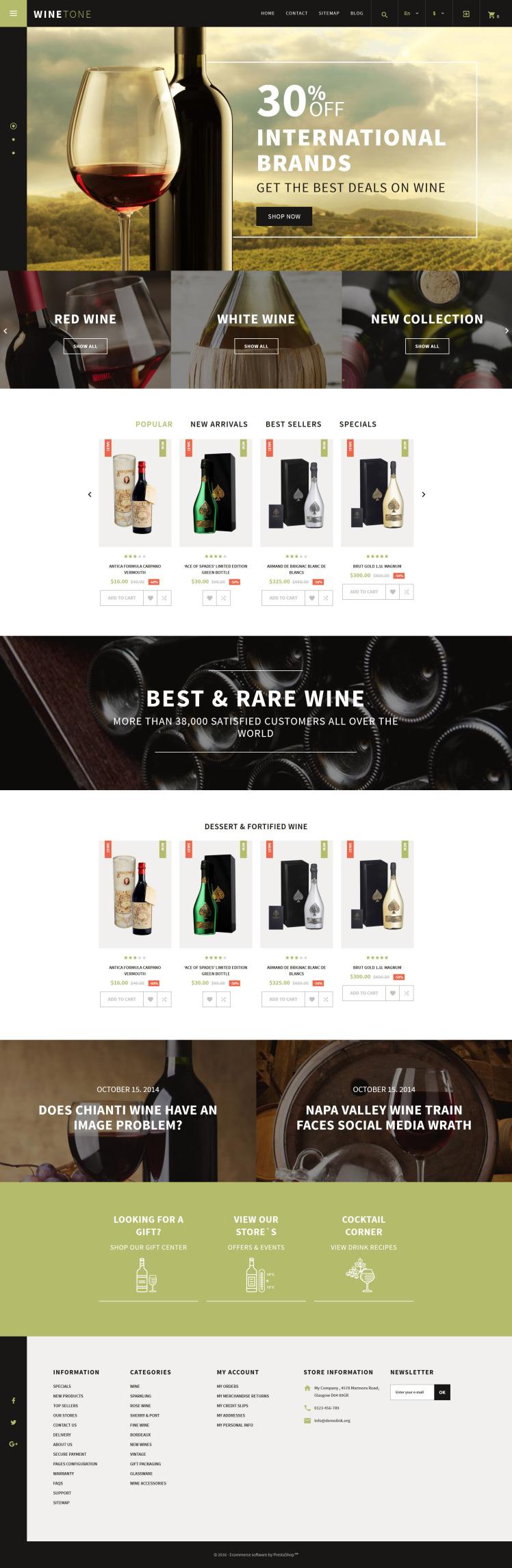 Wine Tone PrestaShop Themes