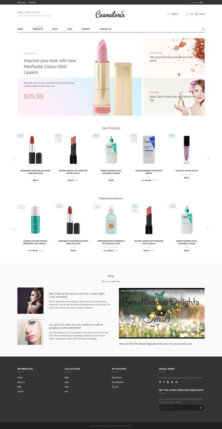 Cosmetorix Shopify Themes