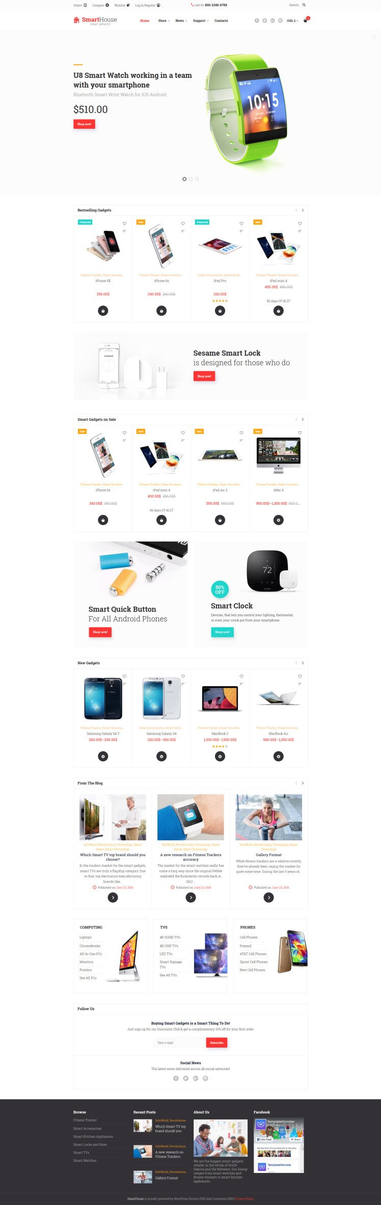 SmartHouse Accessories Gadgets WooCommerce Themes