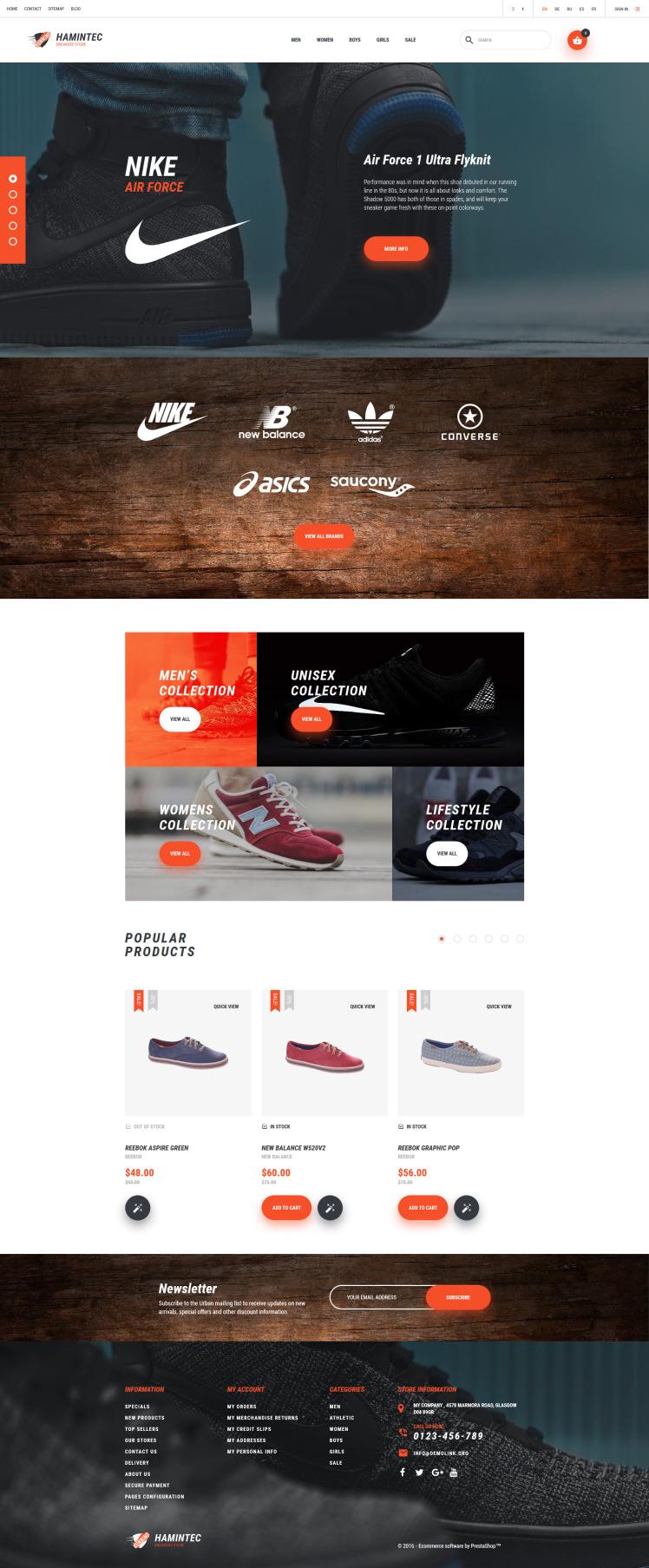 Hamintec Sneakers Store PrestaShop Themes