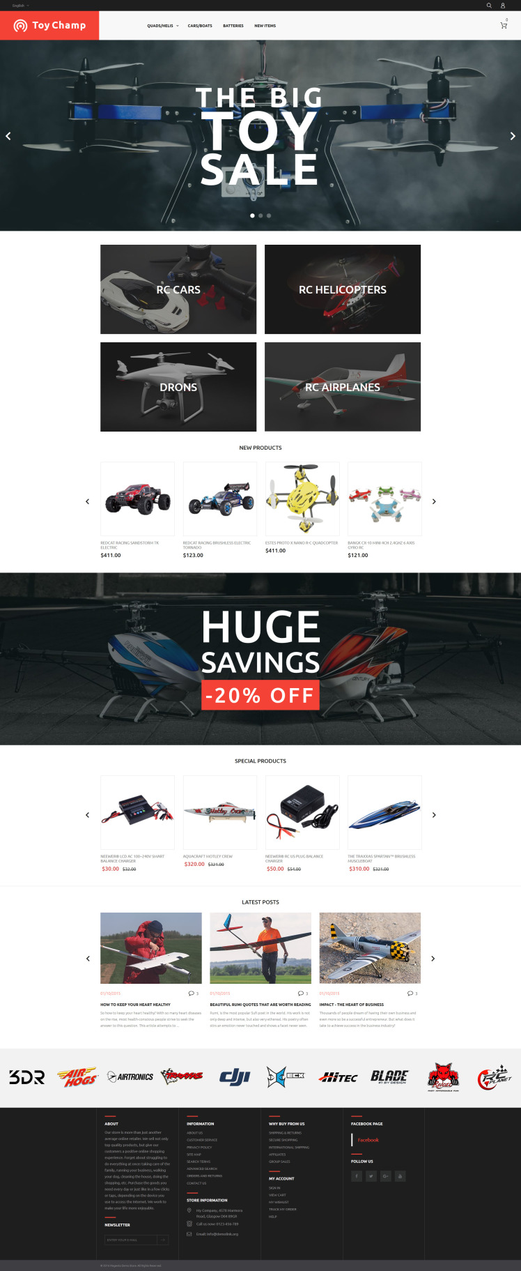 Toy Champ Magento Themes