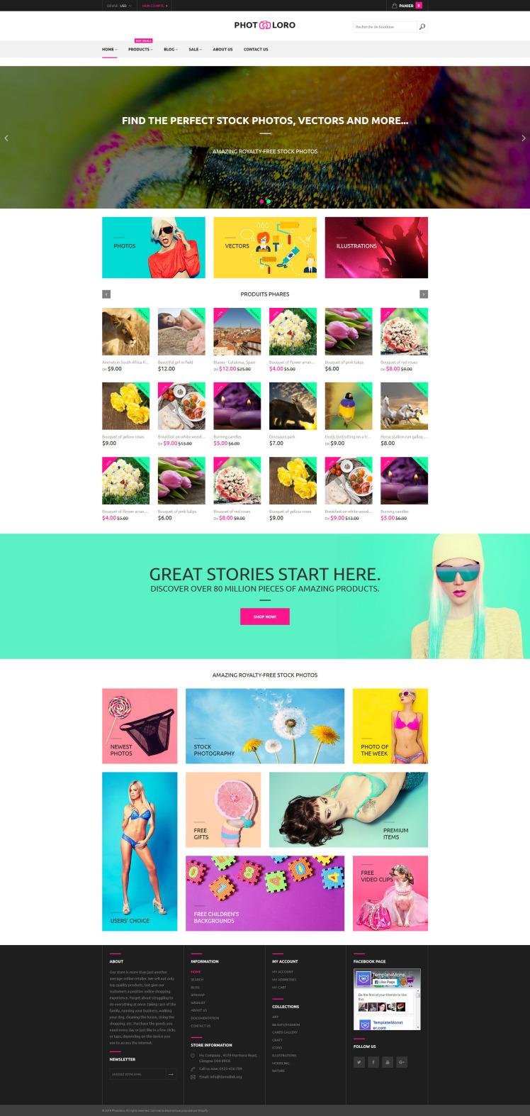 PhotoLoro Shopify Themes