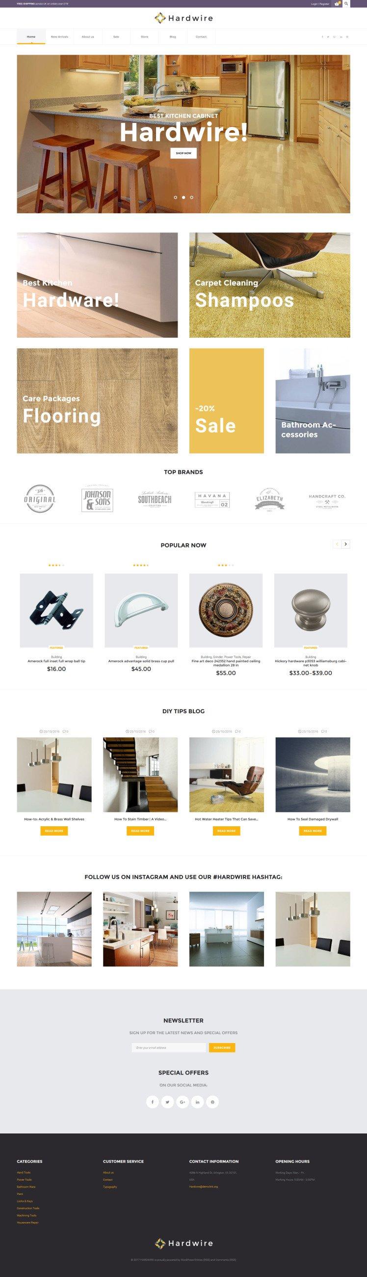Hardwire Household Hardware Store Responsive WooCommerce Theme