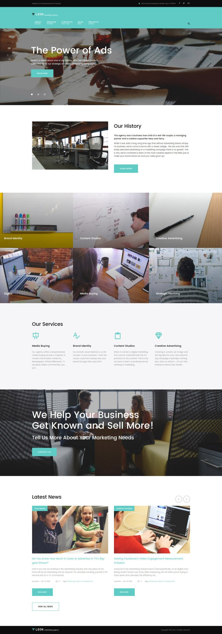 Leon advertising marketing and SEO agency WordPress Theme