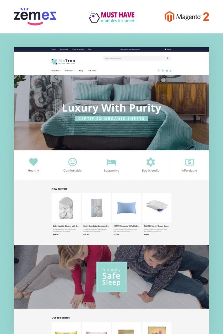 BioTron Home Textiles Store Magento Themes
