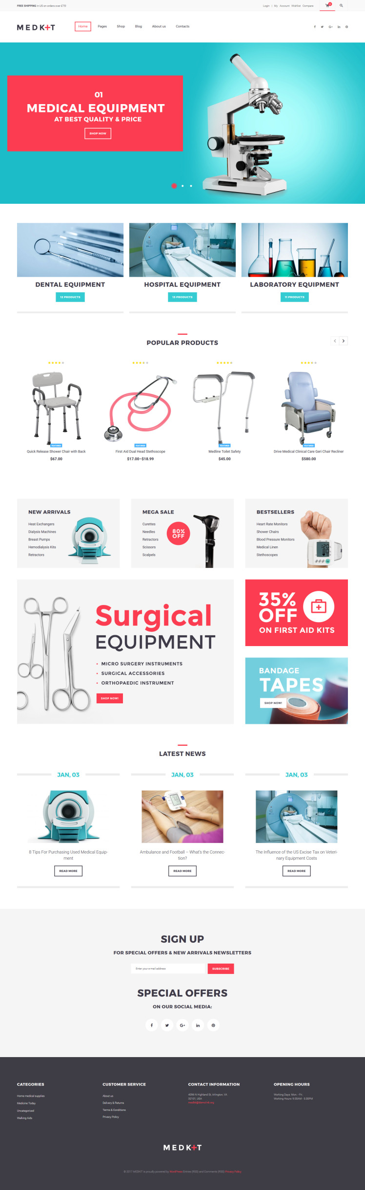MedKit Medical Equipment WooCommerce Theme