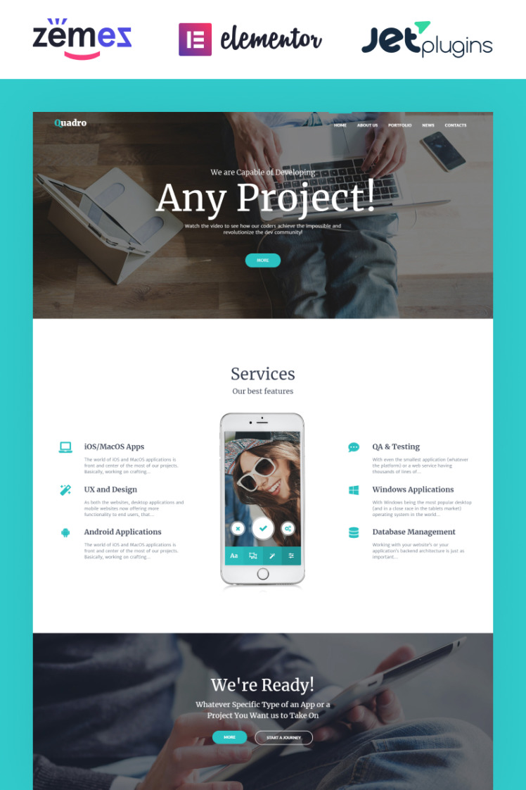 Quadro Software Company WordPress Themes