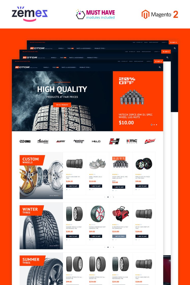 Motor Car Services Magento Themes