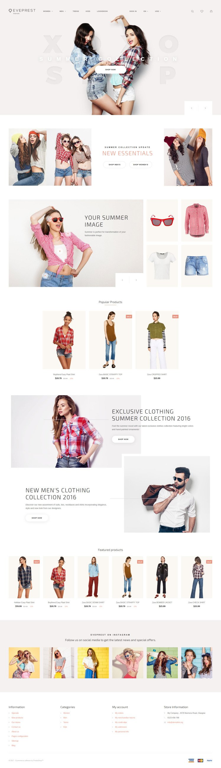 Eveprest Fashion Boutique PrestaShop Themes