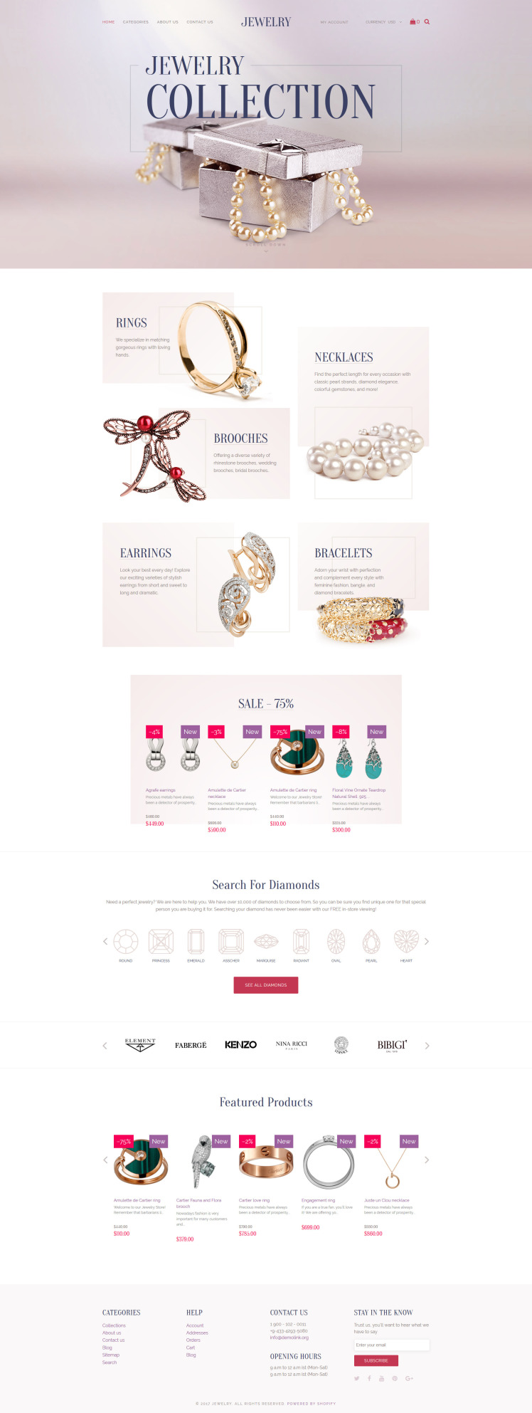 Jewelry Luxury Collection Shopify Themes