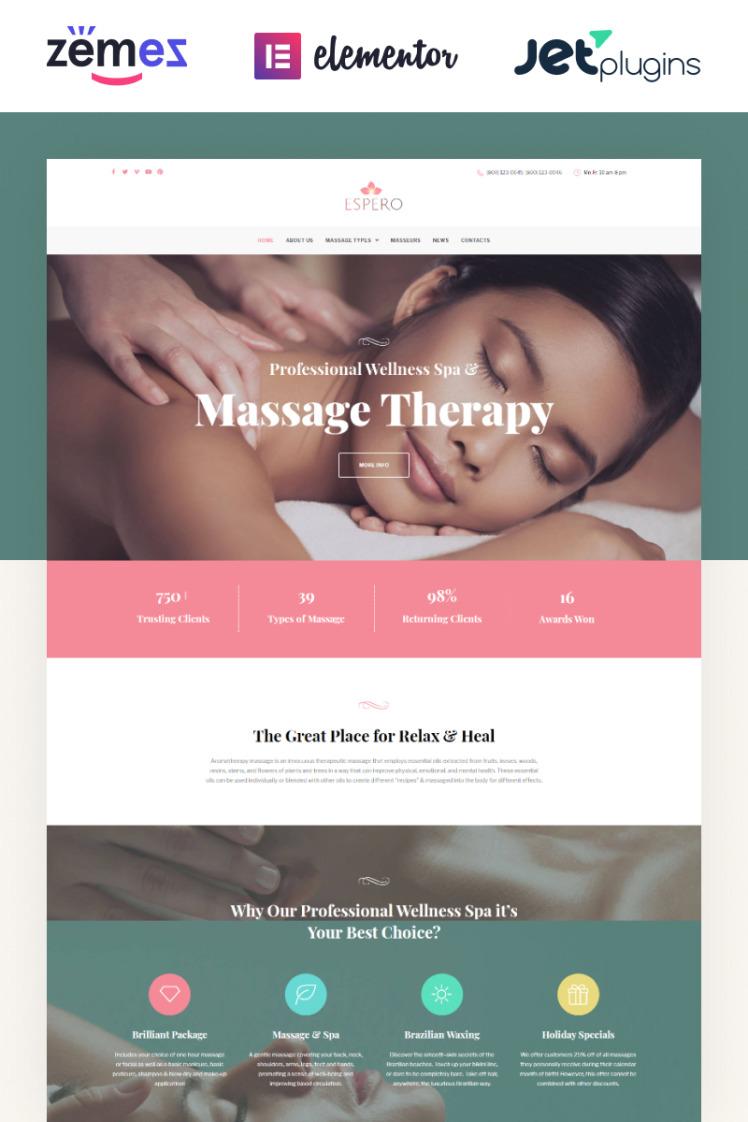 Espero Massage Salon Responsive WordPress Theme