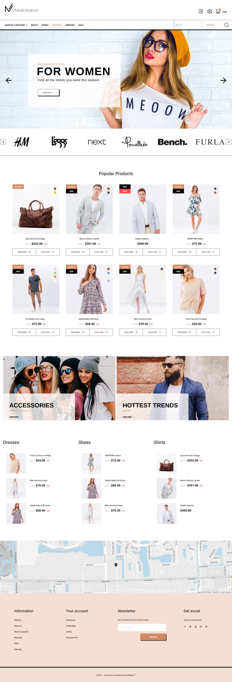 Mannerway Clothes Accessories PrestaShop Themes