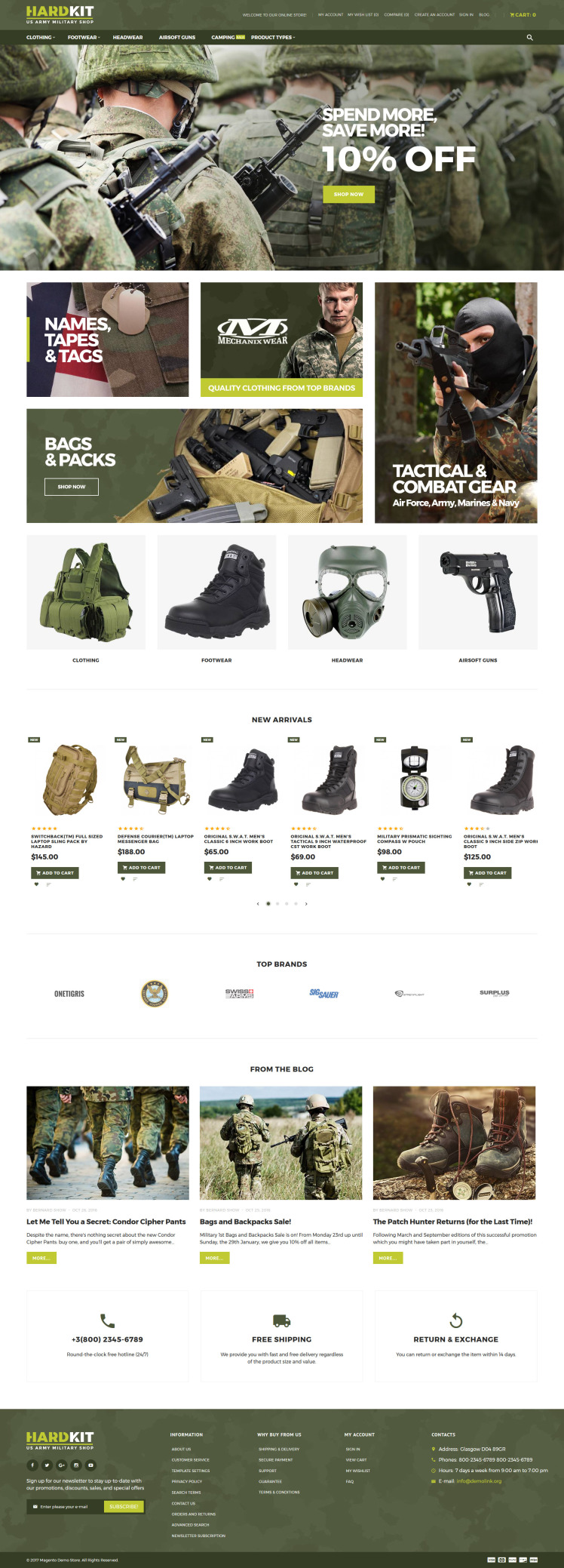 HardKit US Army Military Shop Magento Themes