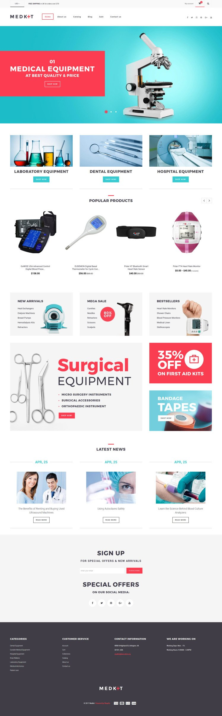 Medical Equipment Responsive Shopify Theme