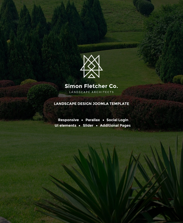 Simon Fletcher Landscape Architects Joomla Templates