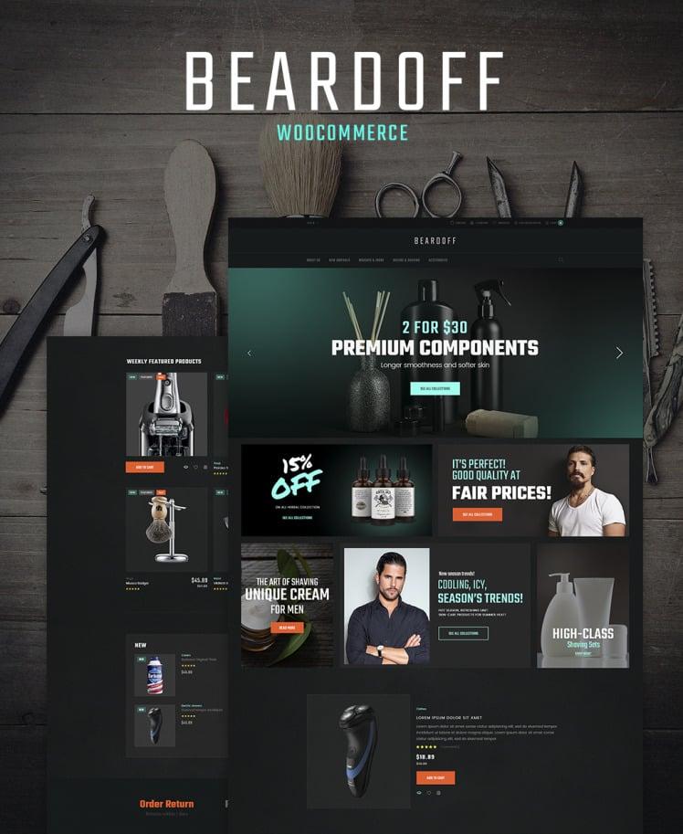 Beardoff Mens Shaving Products Responsive WooCommerce Theme WooCommerce Theme