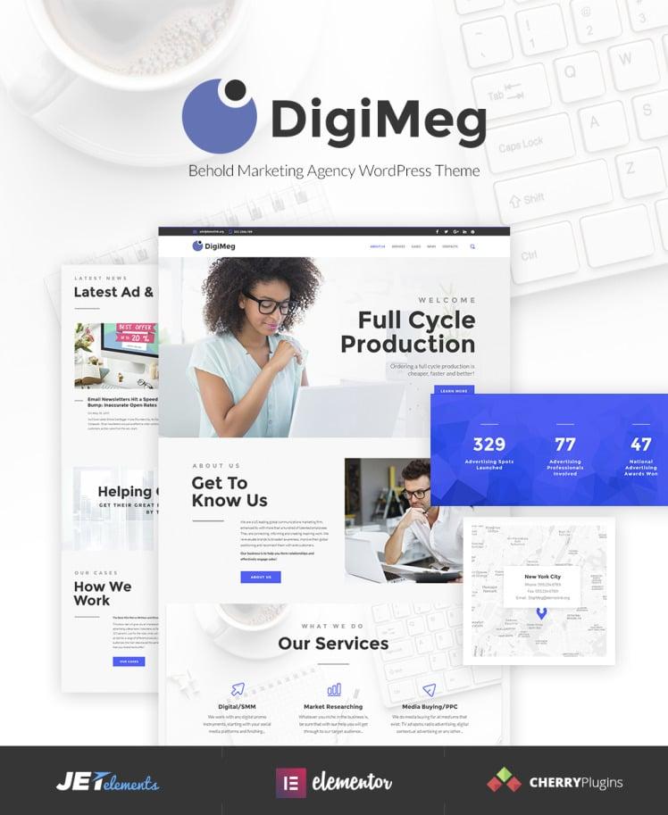DigiMeg Communication Agency WordPress theme