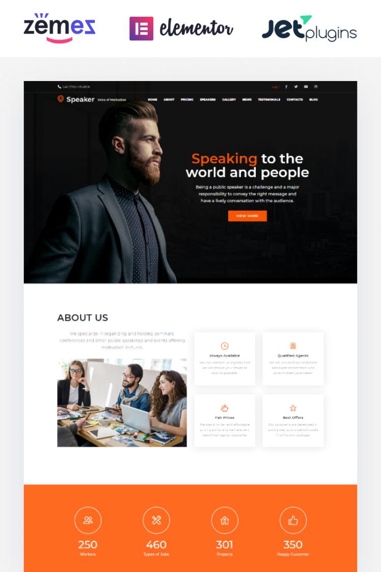 Speaker Life Coach WordPress Theme