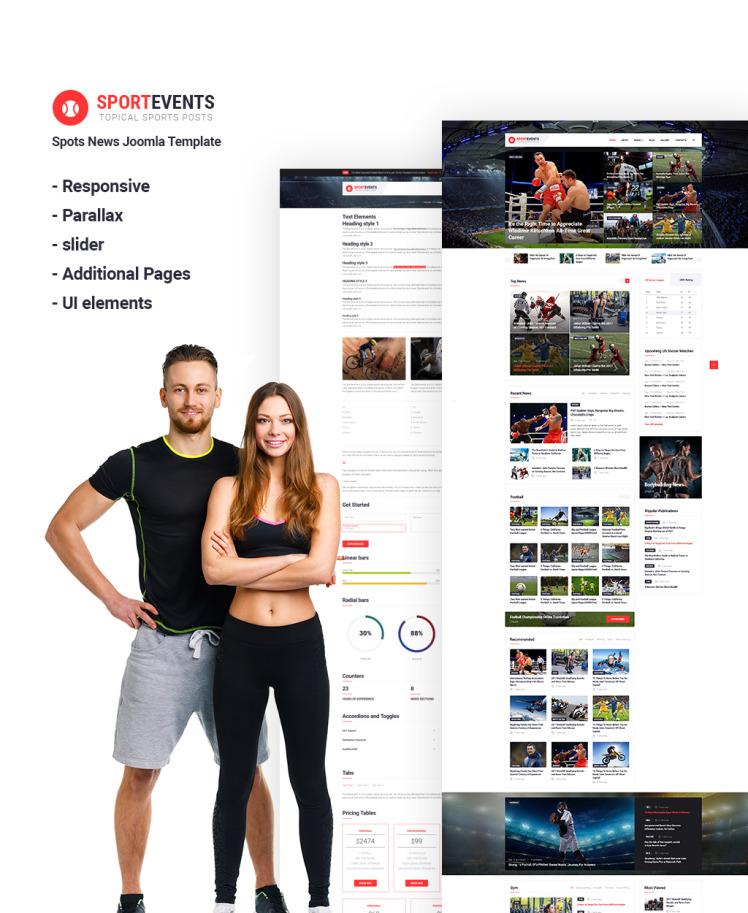 Sport Events Sports News Joomla Templates