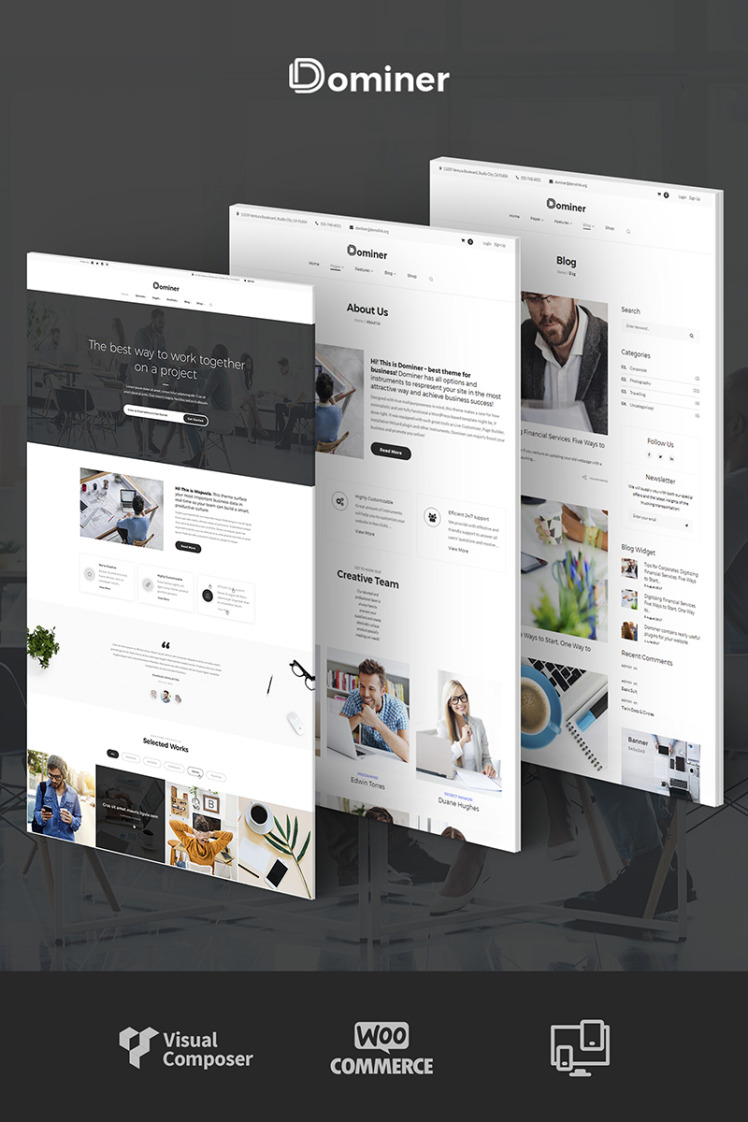 Dominer Business Services WordPress Theme