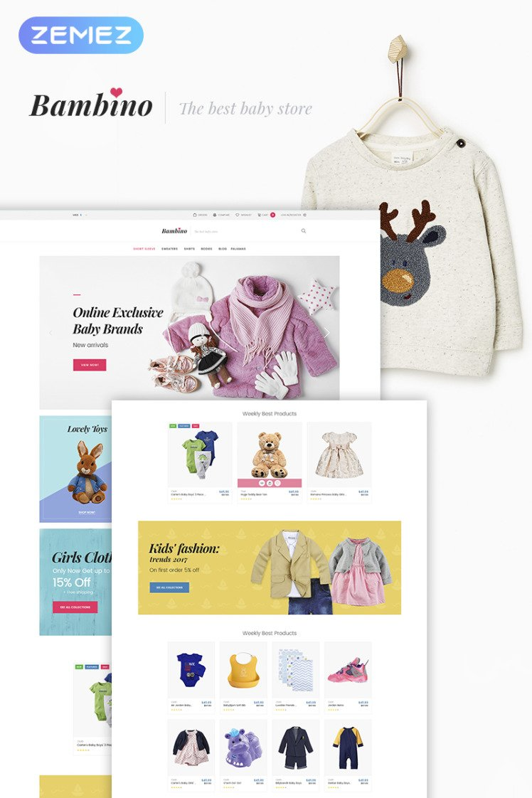 Bambino Baby Store Responsive WooCommerce Themes