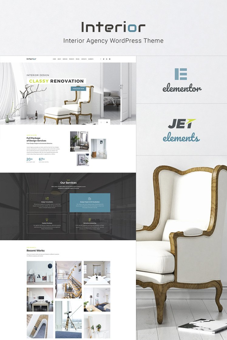 Interior Interior Design Company Responsive WordPress Theme